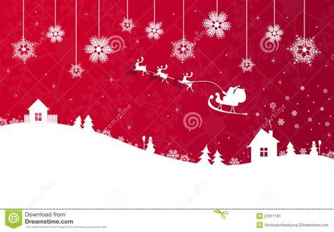 red christmas banner  santa claus stock image image