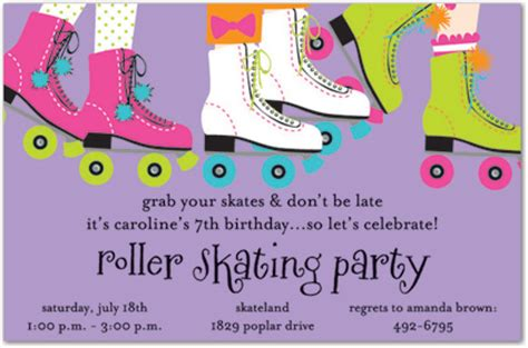 skate party invitations template best template collection