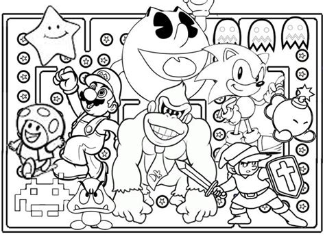 coloring pages video game characters 17 best images about poster ideas on pinterest adventure