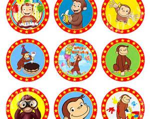 curious george craft circles inst ant download printable cupcake birthday and party