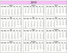 2015 Yearly Calendar Printable Yearly Calendar 2015 Gameshacksfree