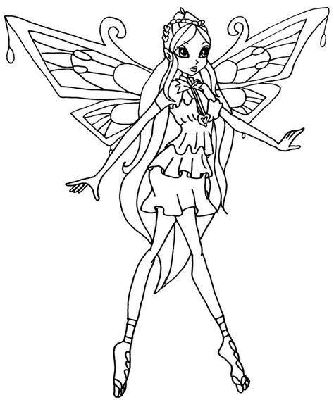 winx club bloom enchantix coloring pages az coloring pages