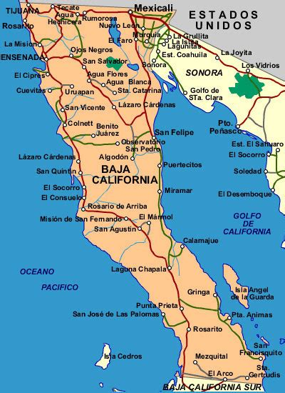 map of baja california free printable maps map of baja california norte printfree