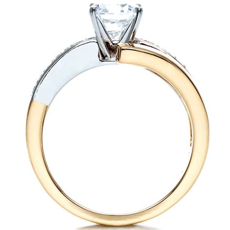 two tone gold engagement ring 216