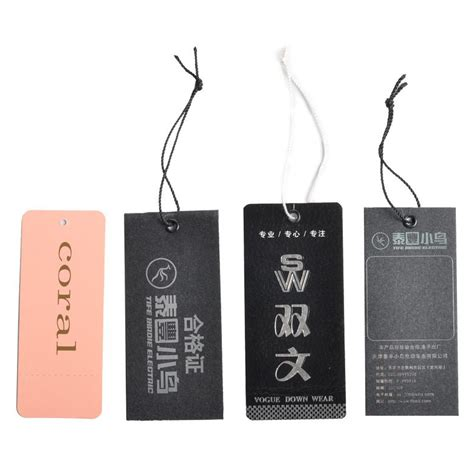 china appareal clothing garment tags hangtags
