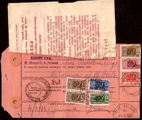 la spedizione e in giacenza all ufficio postale storia postale italiana