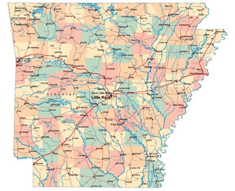 us map arkansas state maps of arkansas state collection of detailed maps of