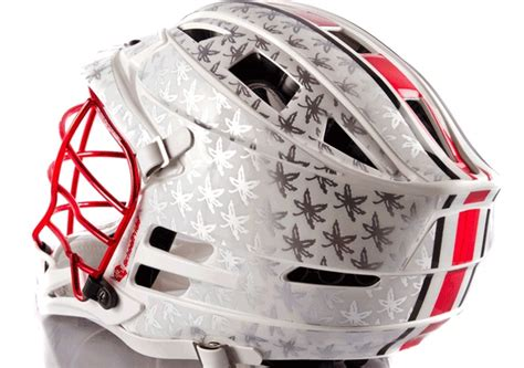 design lacrosse helmet decals we worked with ohio state men s lacrosse to design this