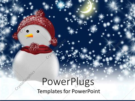 powerpoint template a beautiful depiction of a snowman at