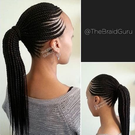 Straight Up Hairstyles With Fringe Braids