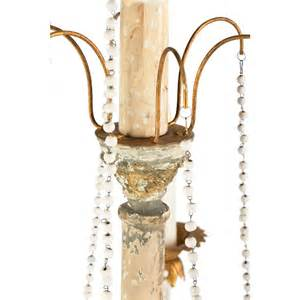 white distressed chandelier fontaine country 2 tier distressed white beaded