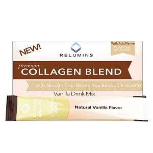 Sachet S3 Gluco Glutation Collagen 1 relumins premium collagen blend pineapple or blueberry flavor 100 premium grade actumarine