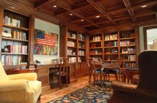 home office library with patriotic zest decoist