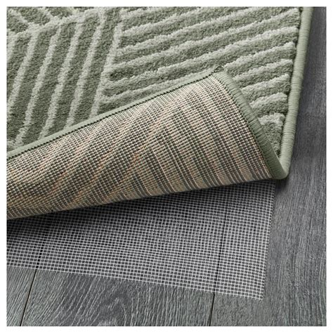 large low pile rug stenlille rug low pile green 170x240 cm ikea