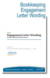 bookkeeping letter of engagement template sle bookkeeping engagement letter wording