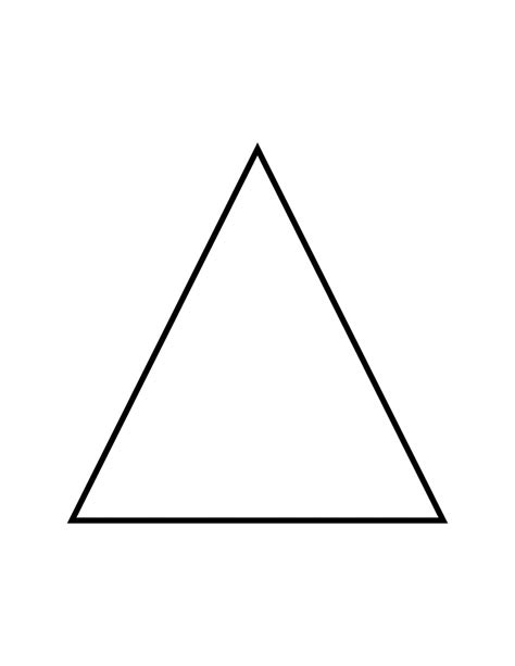 flashcard of an isosceles triangle clipart etc
