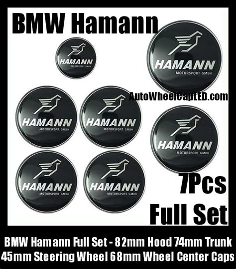 Emblem Grille Bmw Hamann bmw hamann 7pcs emblems 82mm 74mm trunk 68mm wheel center caps 45mm steering horn
