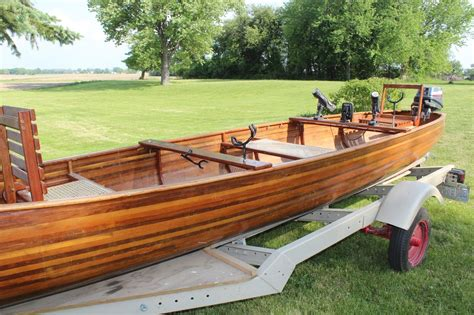 wood motor boat solid hand crafted wood canoe motor boat 2012 for sale