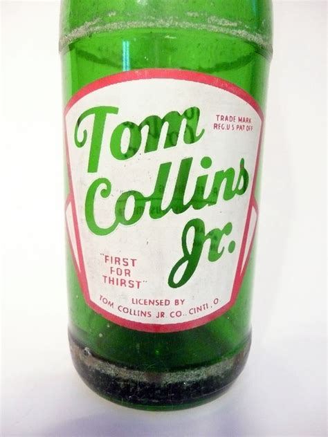 tom collins bottle vintage soda tom collins jr of cincinnatti vintage 12 oz