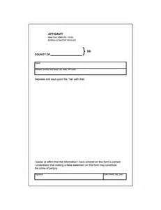 Template Of Affidavit by 48 Sle Affidavit Forms Templates Affidavit Of