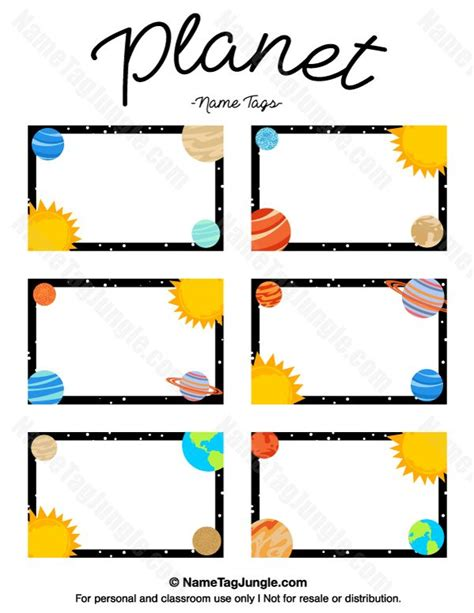 name the template free printable planet name tags the template can also be