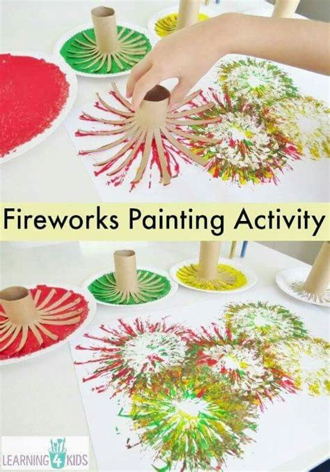 How To Make Fireworks Out Of Paper - make fireworks painting out of paper rolls 4th of july