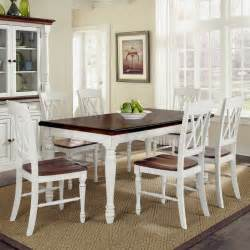 white kitchen tables home styles monarch 7 piece dining table set with 6 double x back chairs white oak dining