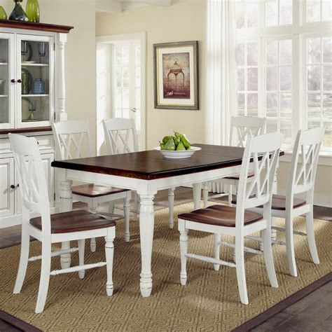 home styles monarch 7 dining table set with 6