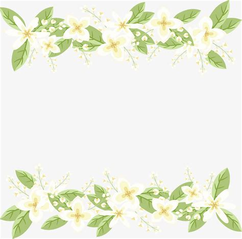 small fresh white flower border vector png white flowers white border png and vector for free