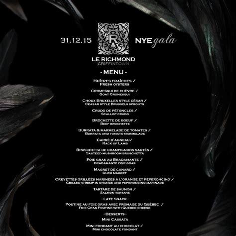golden sun new year menu new year s gala restaurant le richmond