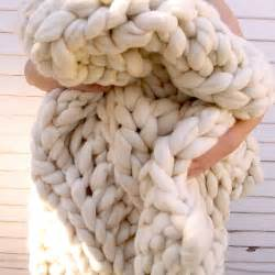 giant super chunky knit wool blanket the green head