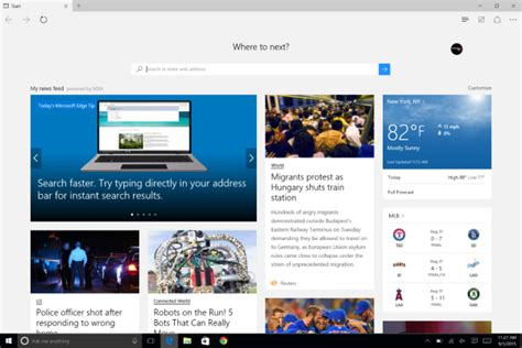 how to set homepage on edge browser