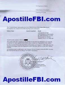 Background Check Fbi Fbi Apostille California Apostille