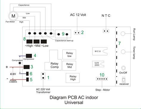 pcb universal ac jasa instalasi dan service ac