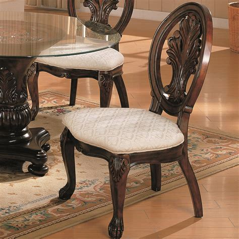 coaster dining chairs coaster 101032 traditional dining side chair