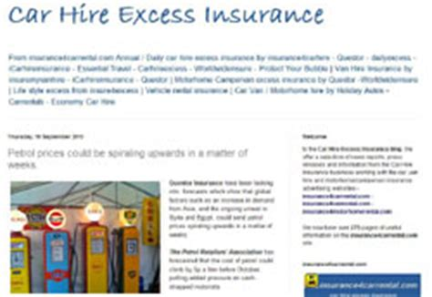 Car Excess Insurance by Great Value Car Hire Excess Insurance Hire Excess