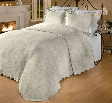 king size matelasse coverlets roycroft prada portuguese matelasse bedspread sham set