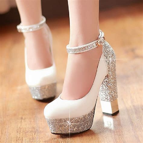 Wedding Shoes Thick Heel by 2016 Thick Heel Ultra High Heels Single Shoes Gorgeous