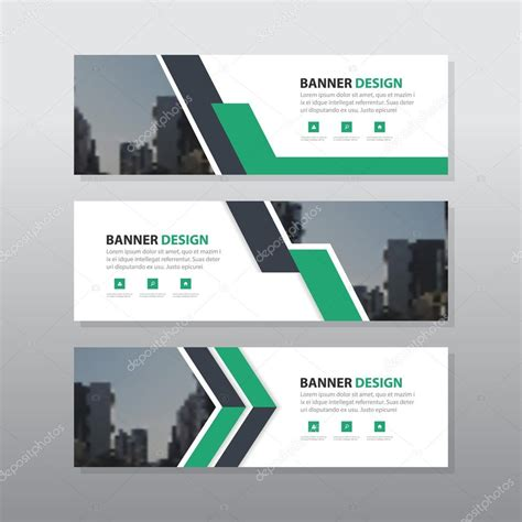 design banner corporate green purple abstract corporate business banner template