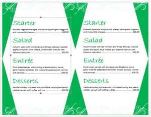 microsoft word restaurant menu template birthday menu template microsoft word templates