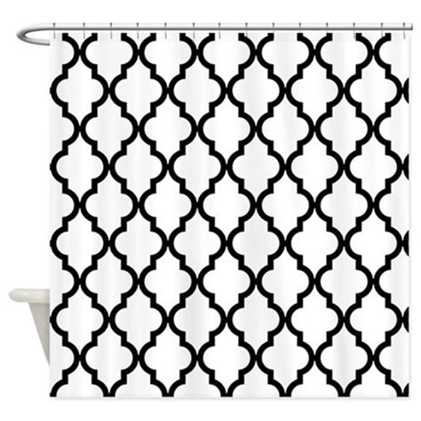 black and white moroccan pattern black white moroccan pattern inv shower curtain by