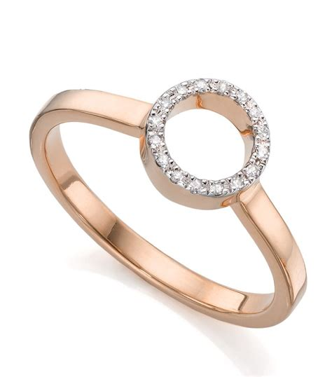 vinader mini circle open ring in pink