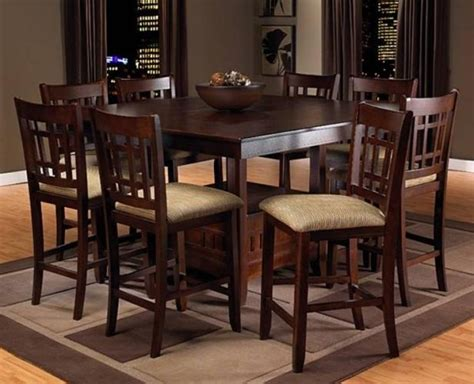 brown pub style table and chairs decorating ideas