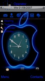 clock themes for iphone 4s free download iphone apple clock s60v5 theme nokia theme