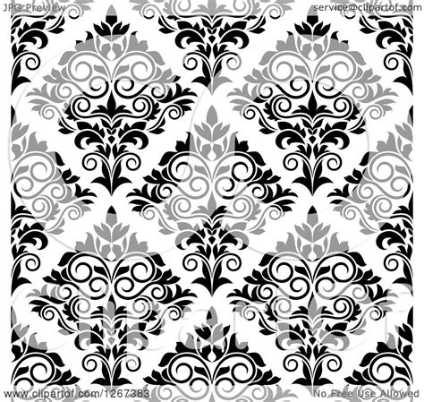 black and white seamless vintage wallpaper royalty free clipart of a seamless pattern background of vintage black