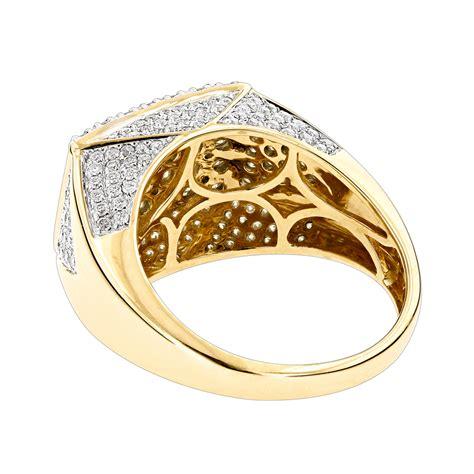 14k gold mens ring 2 75ct ring