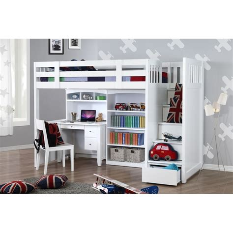 Bunk Beds Single My Design Bunk Bed K Single W Stair Desk W Hutch Bookcase 104038