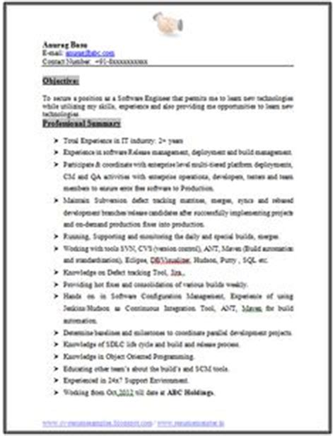 experienced resume sles for software engineers mechanical engineering resume format page 2 career