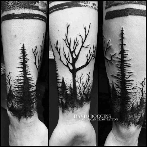 dark design tattoos woods wristband ideas