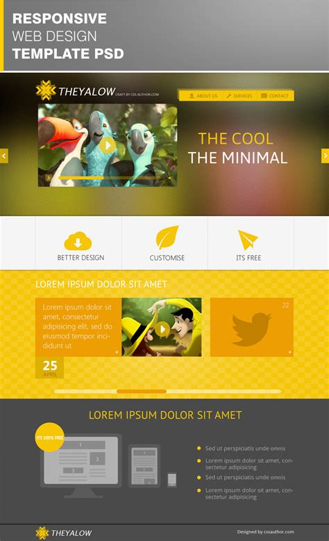 free web design 10 beautiful web design template psd for free download